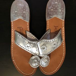 Brand new silver Jack Rogers sandals